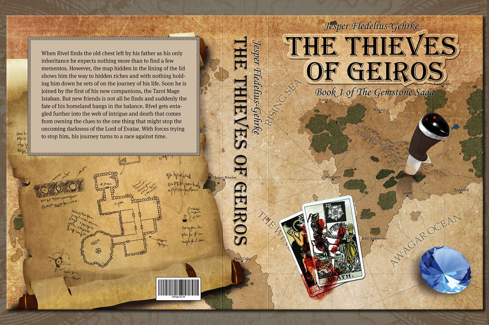 Map for book cover